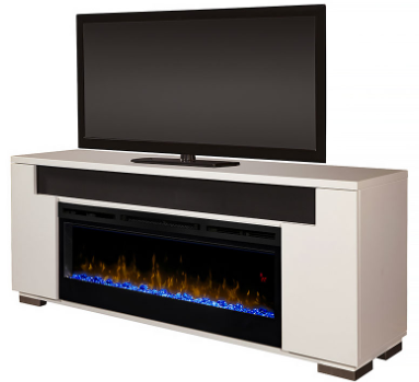 Electric fireplace media cabinet from   Electric Fireplaces Direct