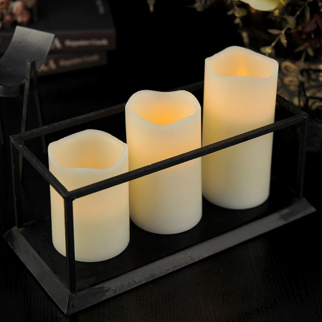 LED flickering light candles   source