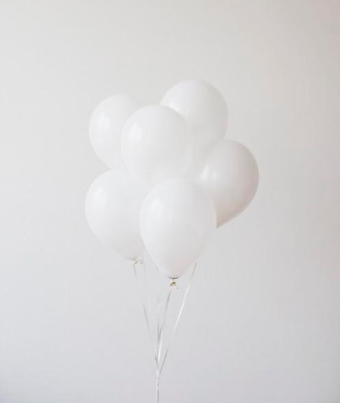 White balloons   source