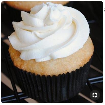Black and white cupcake   source