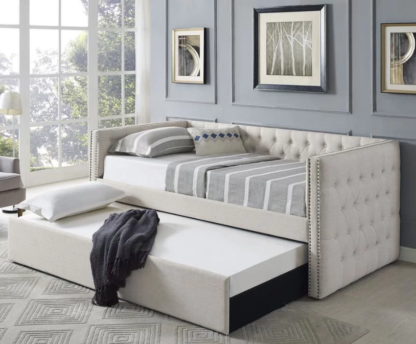 Daybed with trundle source   Birchlane