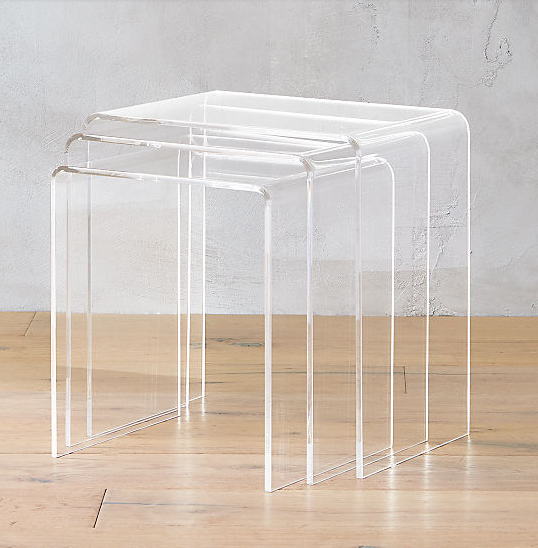 Source   on where to find translucent nest of side tables