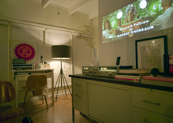 Projection screen as divider   source