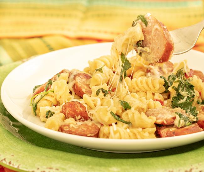 kiolbassa sausage and pasta
