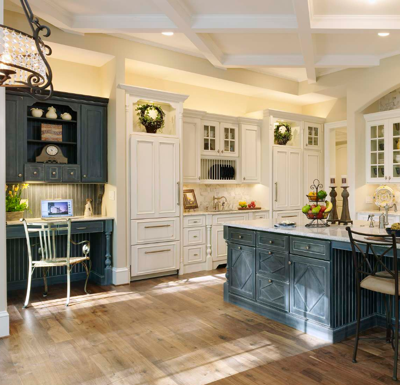 Blue and white kitchen by Ferguson Bath on   Houzz