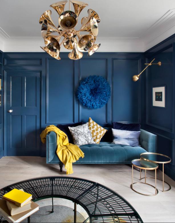 Blue living room by Ballsbridge on   Houzz