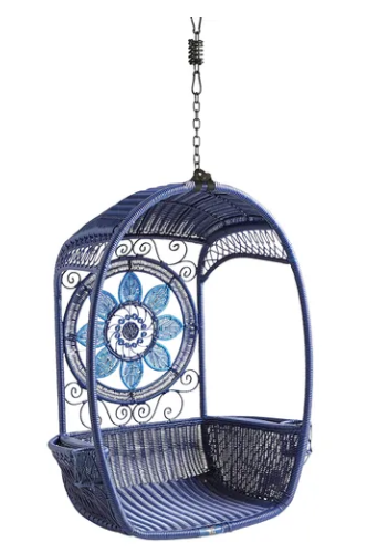 Blue pod swing from   Pier1   (also comes with a swing base)