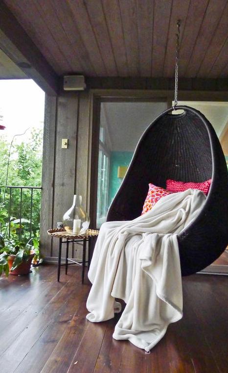 Hanging pod swing   source