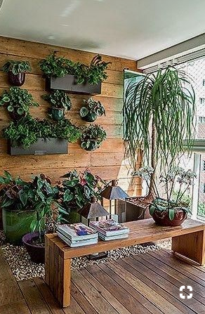Vertical garden on balcony  source