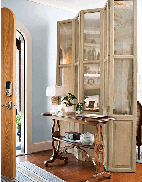 Divider screen creates an entryway source BHG
