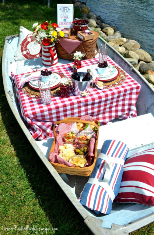 Picnic on a boat   source