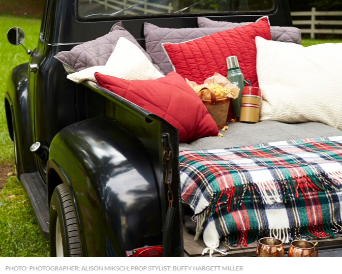 Picnic on a pick up truck from   Southern Living