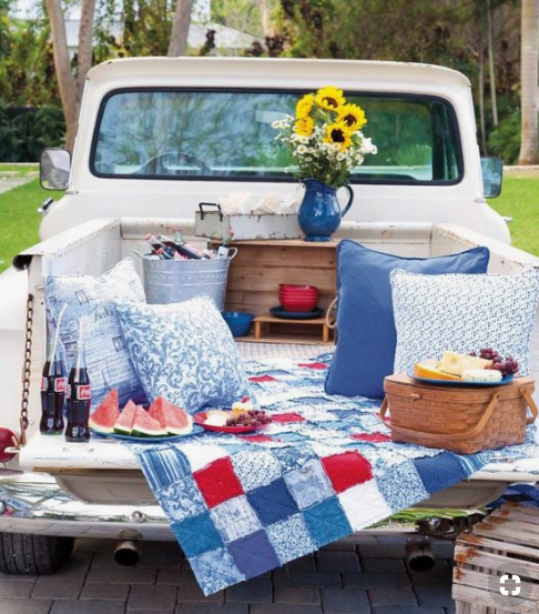 Truck-bed picnic   source
