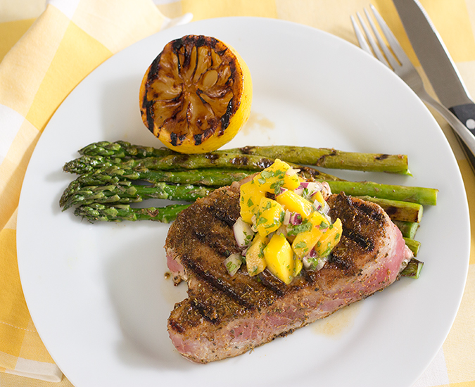blackened tuna steak