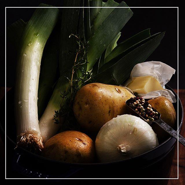 Stay Tuned . . .  #veggie #veggies #foodphotography #rawfood #rawveggies #foodphoto #foodphotograhyandstylingbyme #freshvegetables #leeksphoto #leeksphotography #potatophoto #potatophotography #leeksandpotatoes