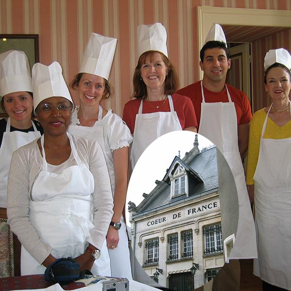 Learning to make Mousse Au Chocolat at Coeur De France in Sancerre, France