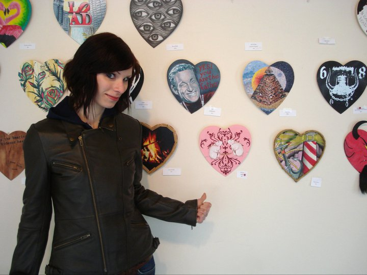 From Jinxed Philadelphia's 2011 Heart Show. Fun annual art show!