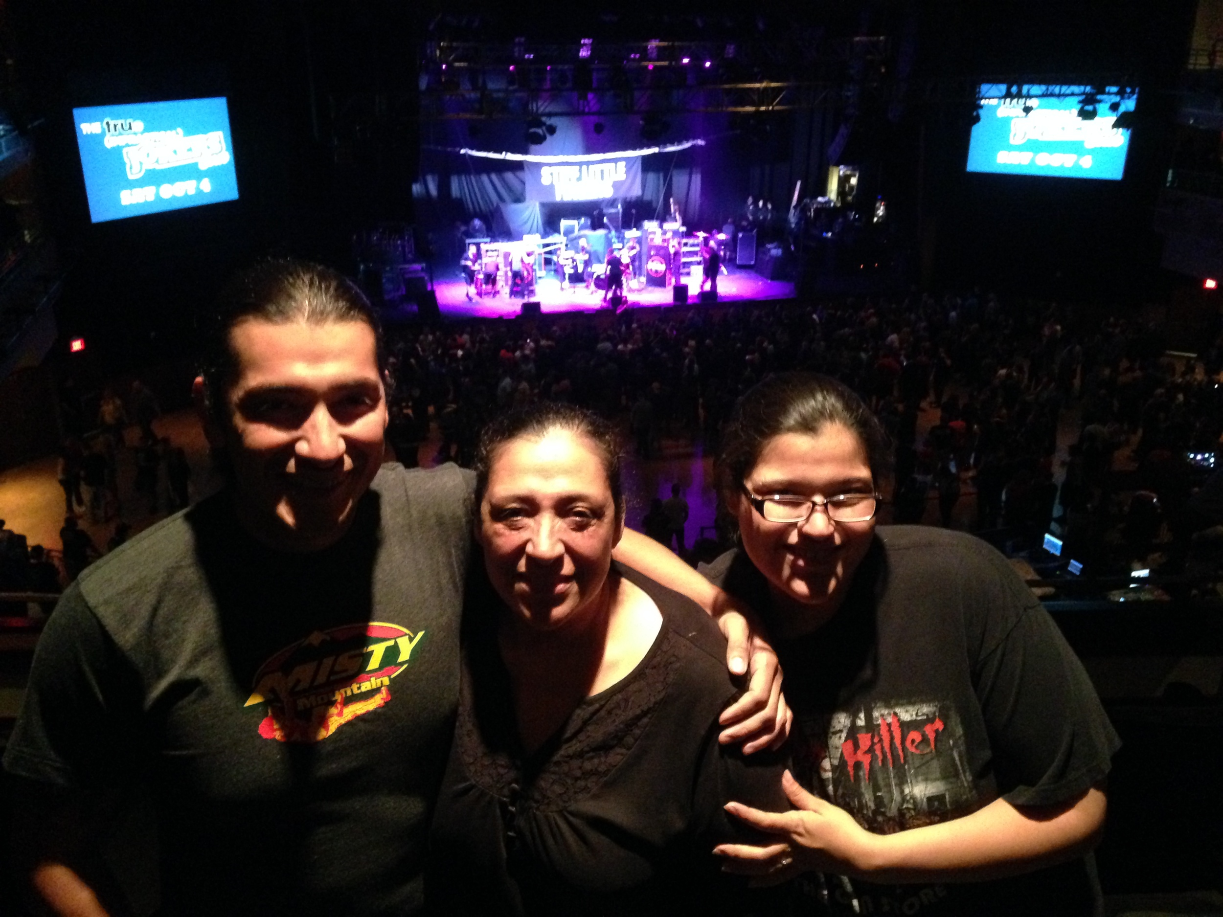 My mom, my sister, and I at The Joint inside The HardRock Hotel waiting to see The Offspring