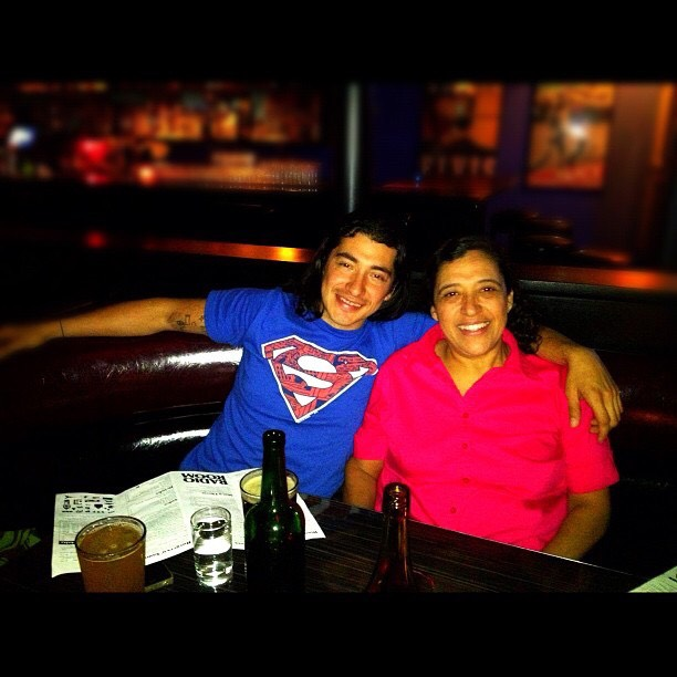 My mom and I on one of her visits to Portland. We had late night drinks at Radio Room.