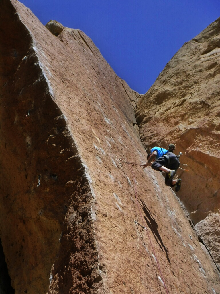 Juan Rodriguez from AntiGravity Equipment, taking a whipper on Darkness at Noon
