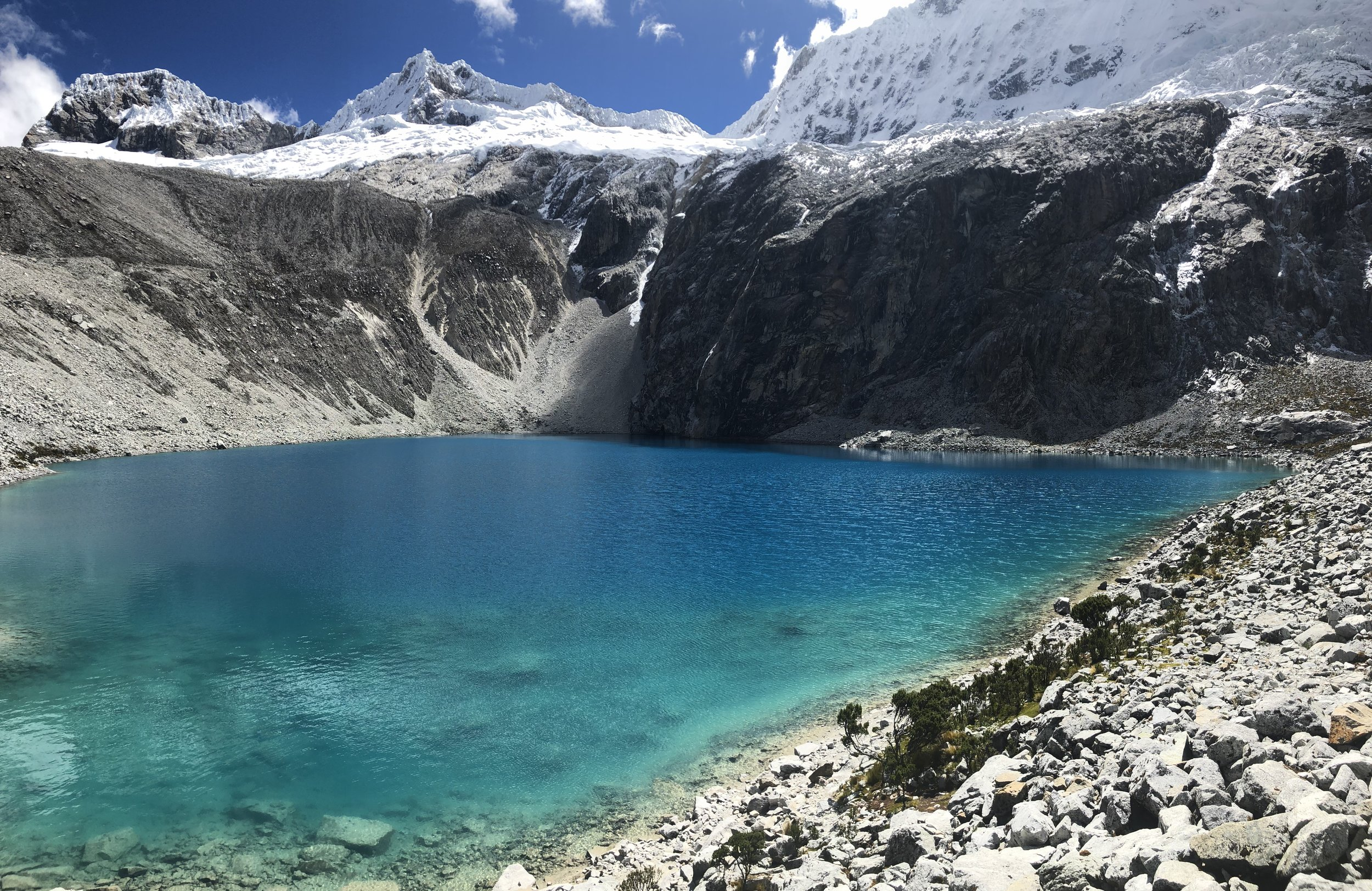 Laguna 69 sits at an elevation of about 14k feet.