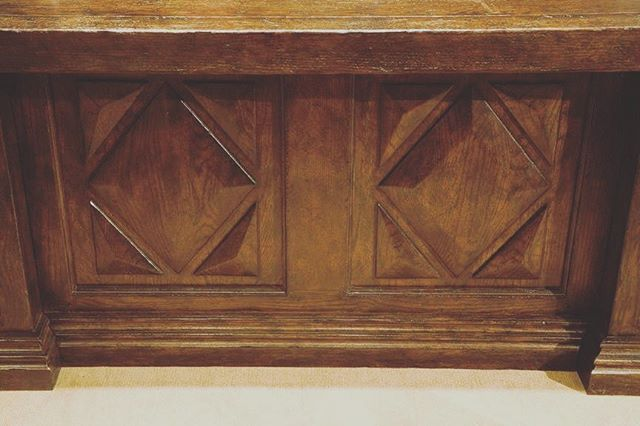 Did you know we design #custom furniture? This is the front of a bold wood desk we created for a client.  #seeyaikea #oneofakind #sunvalley