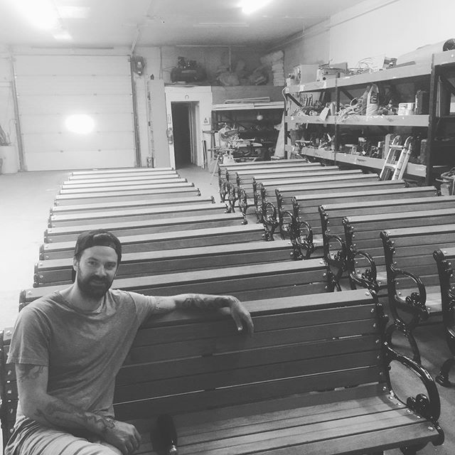 No, we're not starting a church.  Look for these beauty's down town in the coming days.... well, evenings to be accurate...let the musical chairs begin! #scmyxe #yxeliving #yxe #schwinghammered #schwinghammeryxe #dtnyxe #ipewood #ipe #theyreallydolooklikepewstho #notachurch