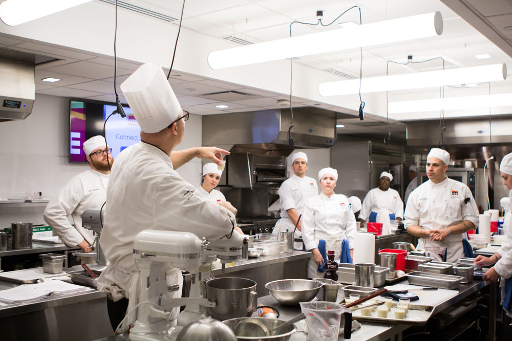 Chef James Distefano in the kitchen at ICE