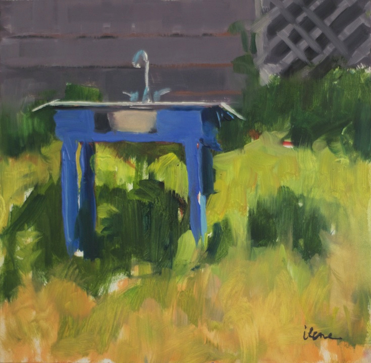 """""""Blue Garden Sink"""""""