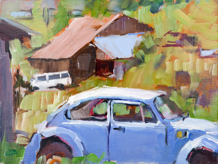 """Blue Bug"" - Plein Air"