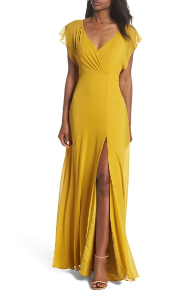 Mustard Yellow Bridesmaid Dresses For Your Squad Meggie Francisco Events,Maxi Wedding Dress With Sleeves