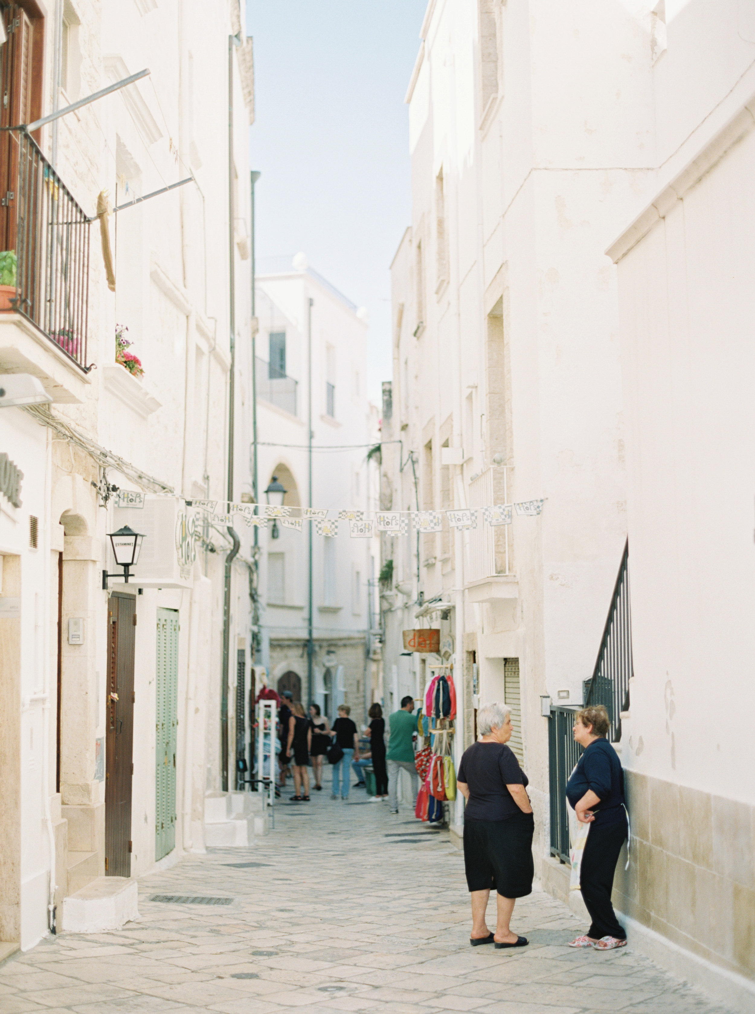 Streets of Polignano a Mare, Italy - photographed by Tracy Enoch, planned and designed by Meggie Francisco Events.