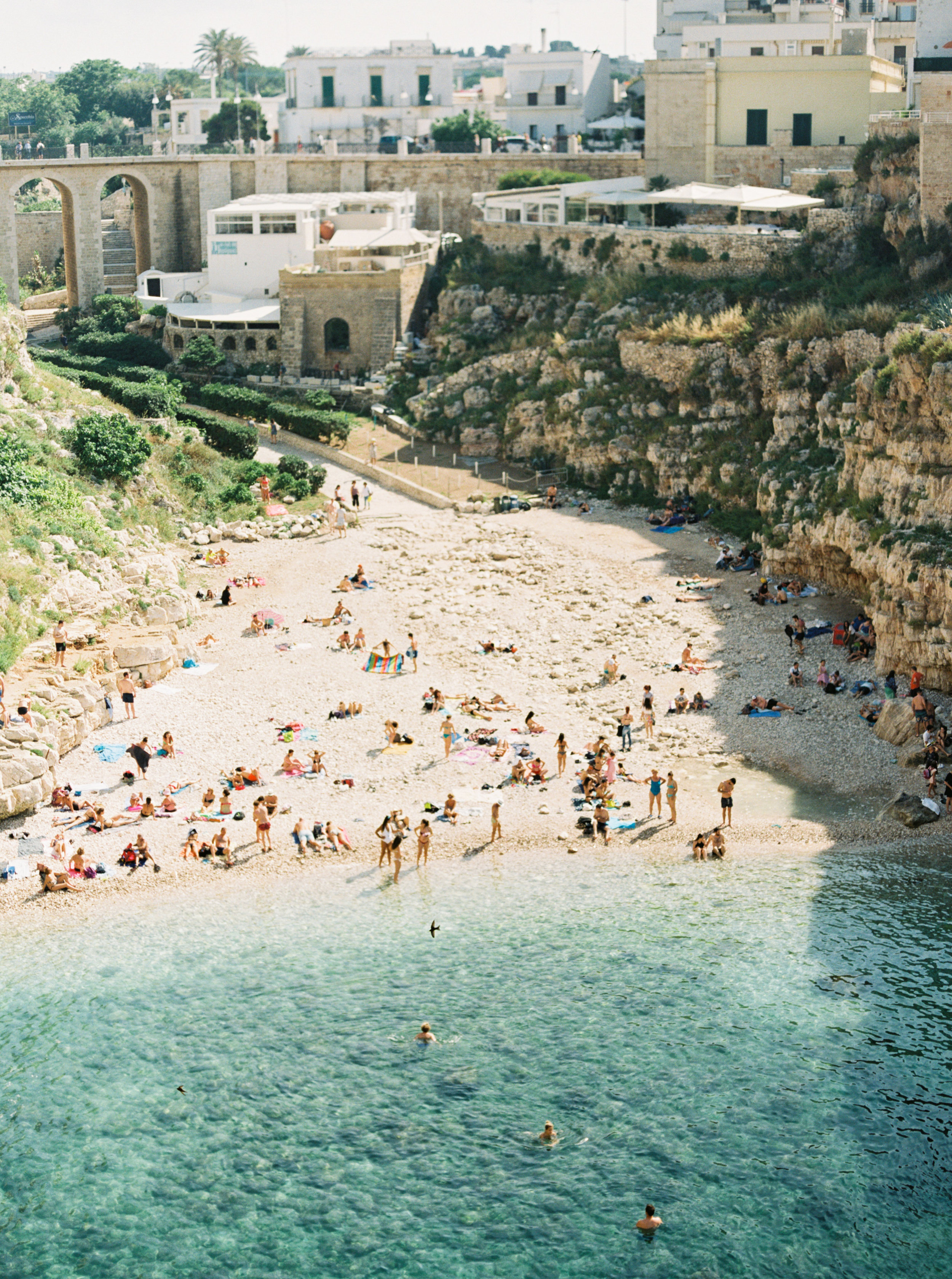 Polignano a Mare beach - photographed by Tracy Enoch, destination wedding planner Meggie Francisco Events