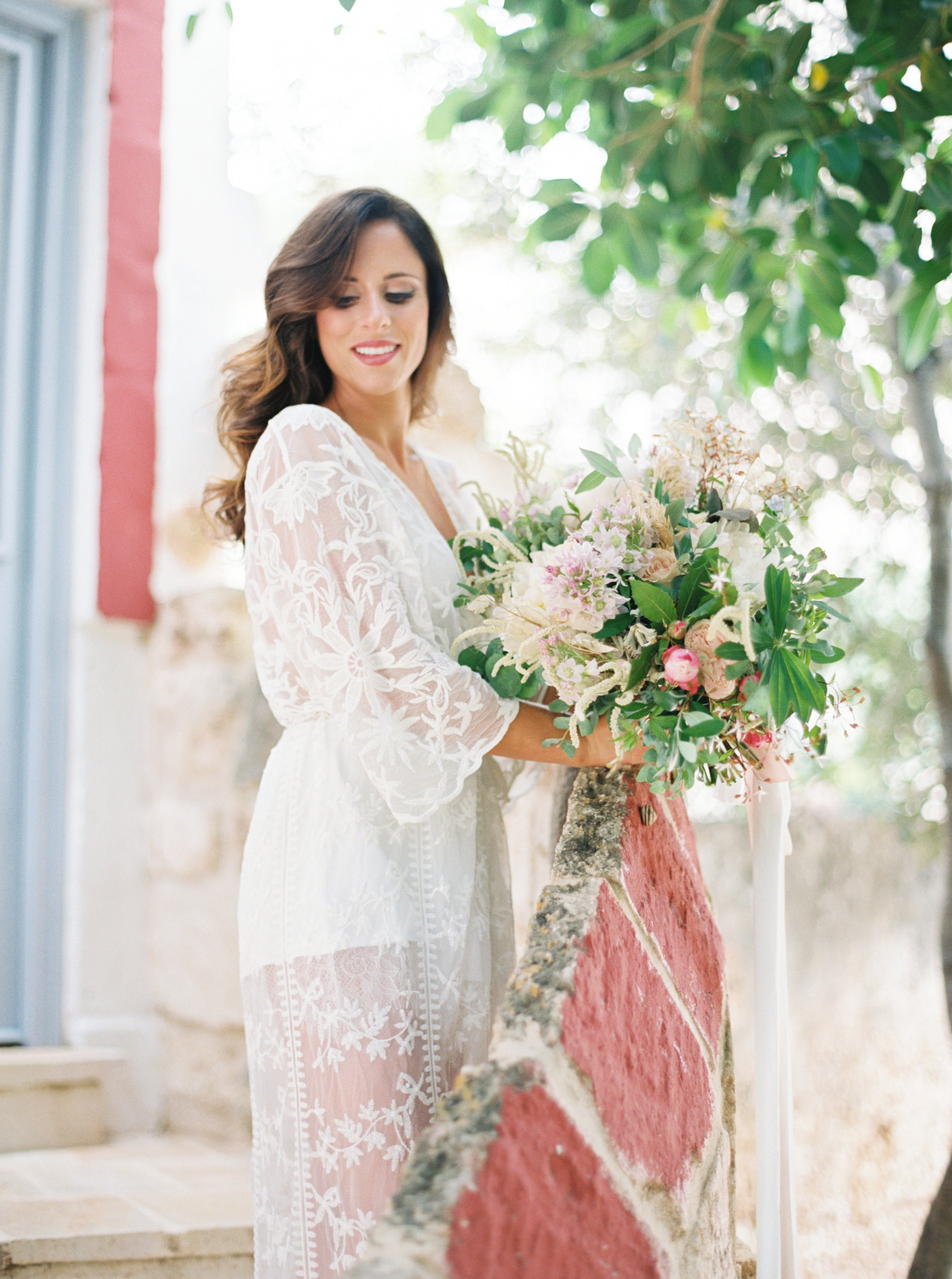 Puglia, Italy destination wedding at Masseria Montenapoleone - Planned by Meggie Francisco, photographed by Tracy Enoch, video by Innar Hunt. Floral by Chiara Sperti Floral Events.
