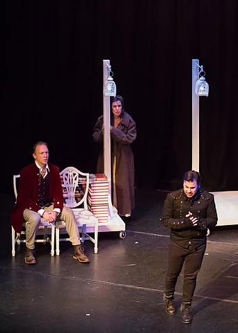 act three. marcello, mimi and rodolfo