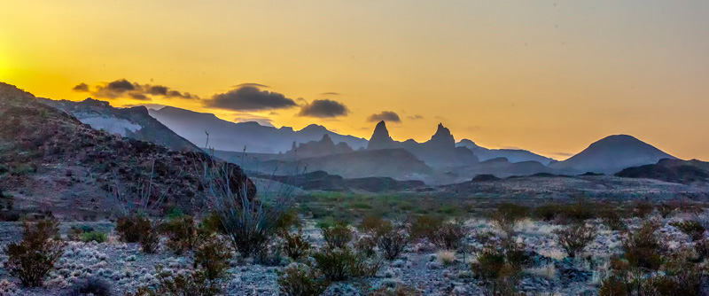© Ron Marabito, Sunrise at the Mules Ears, Big Bend NP