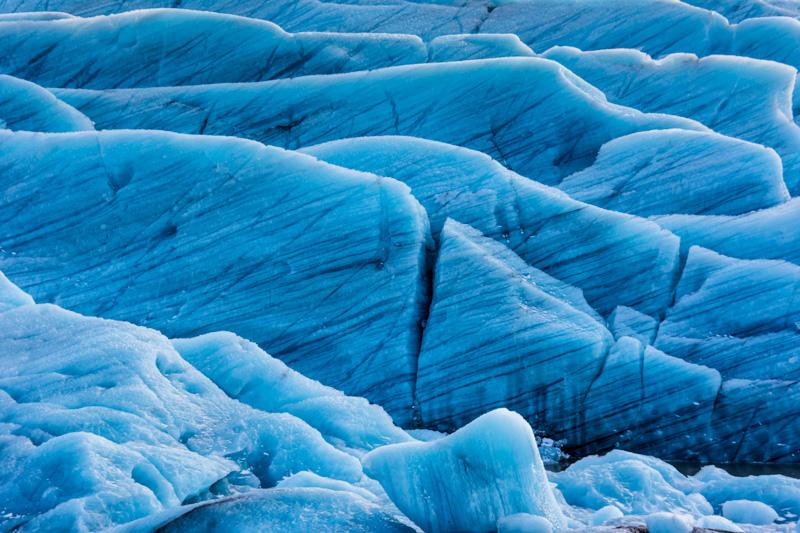 Svinafellsjokull Glacier ice striations