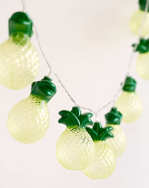 Pineapple String Lights - Summer design is all about being playful. What's more playful than pineapple lights?