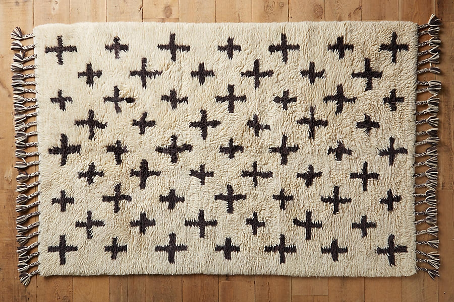 Anthropologie Moroccan Cross Rug