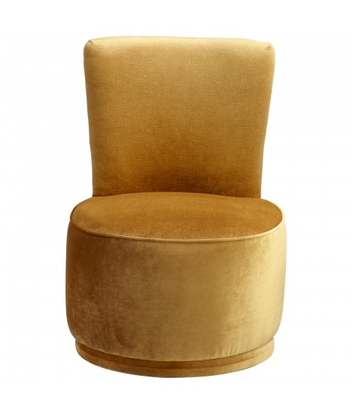 Wallis Swivel Chair in Dijon