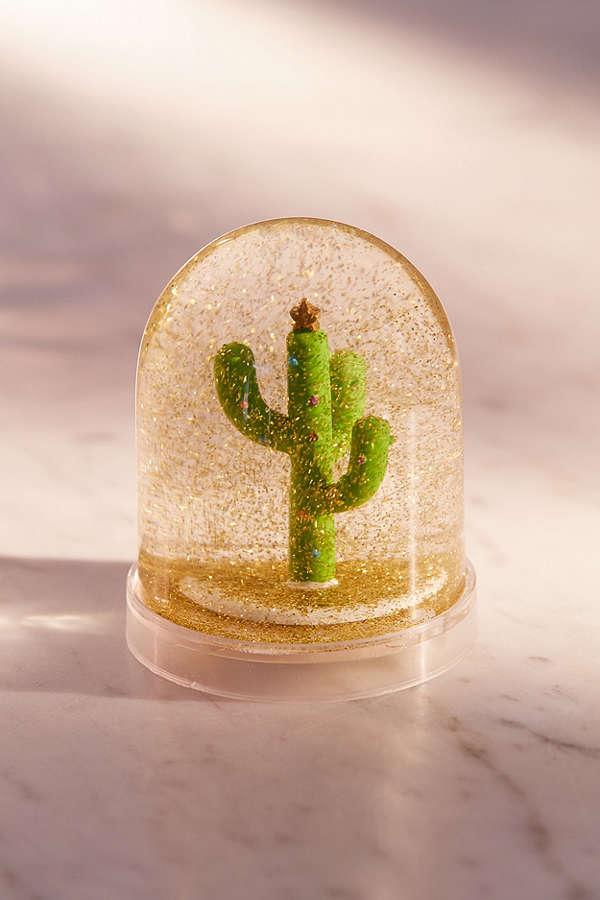Urban Outfitters Cactus Christmas Tree Snow Globe