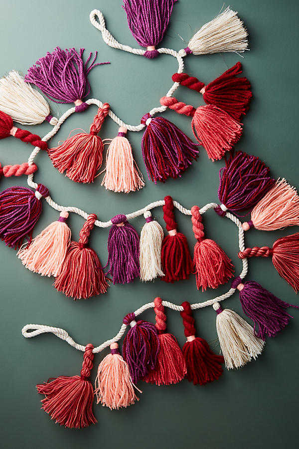 Anthropologie Warm Tones Tassel Garland