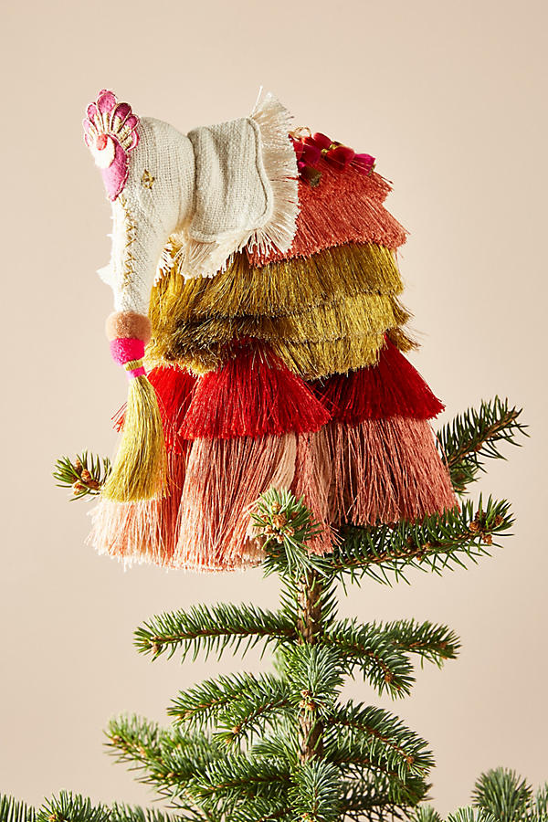 Anthropologie Majestic Tassels Tree Topper