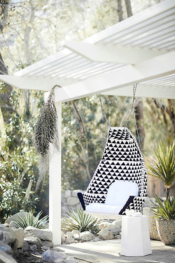 Tahiti Indoor/Outdoor Hanging Chair - A hanging chair that can be posted in the backyard or in the living room for ultimate relaxation.Source: Anthropologie