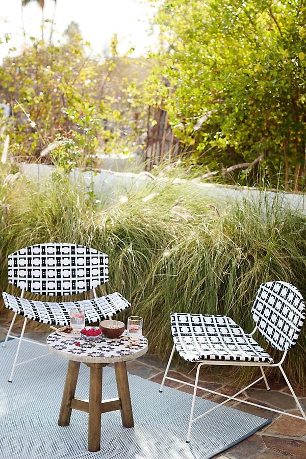 Bombatta Indoor/Outdoor Chair - Patio can't be complete without the perfect chairs to sit in while soaking in the sun. Source: Anthropologie