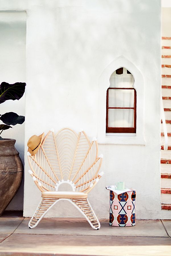 Palmyra Indoor/Outdoor Chair - Talk about ultimate poolside glamour while sitting in this chic chair. Source: Anthropologie