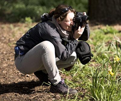 The author taking photos