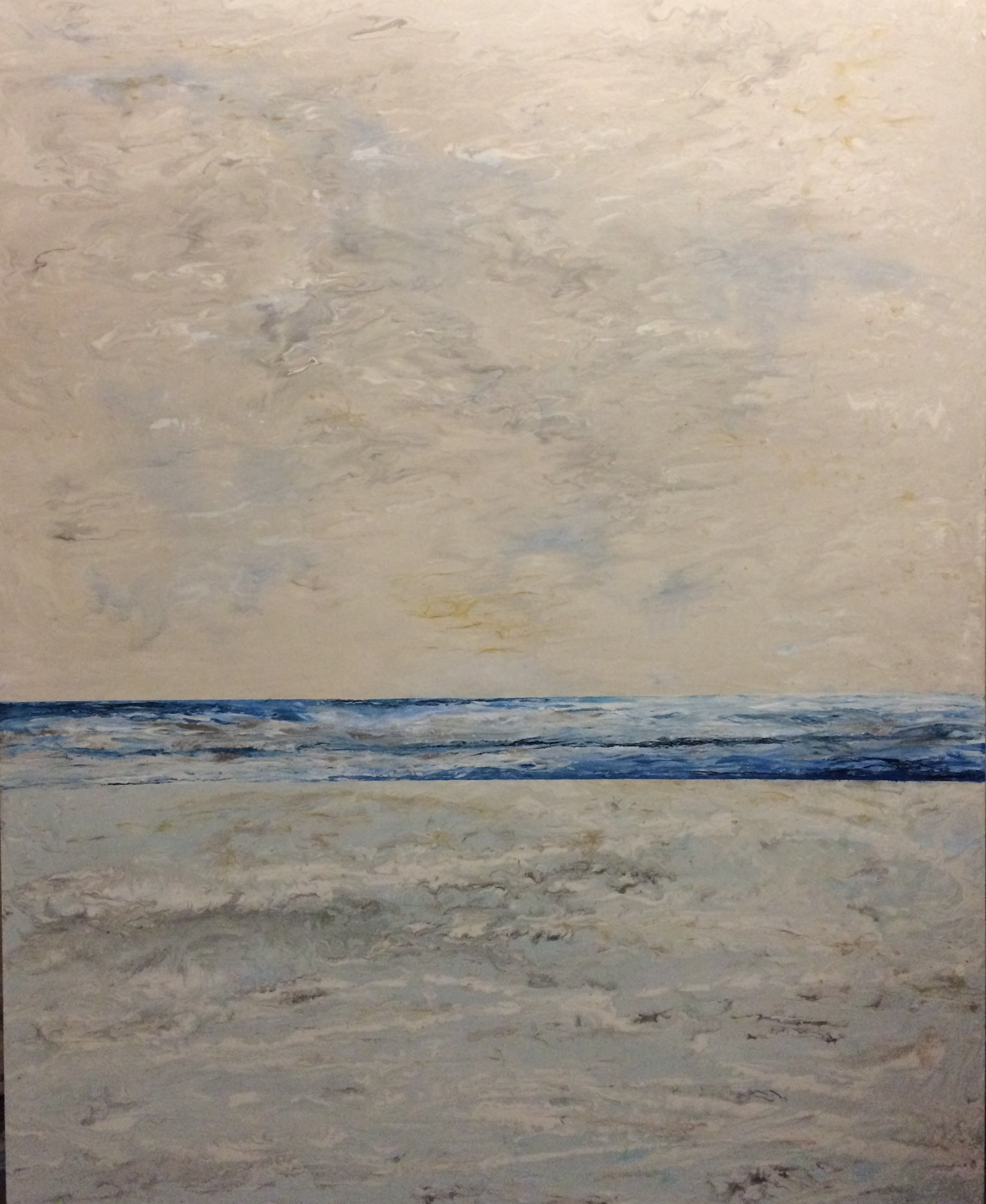 "ICY SHORE (48"" x 72"")"