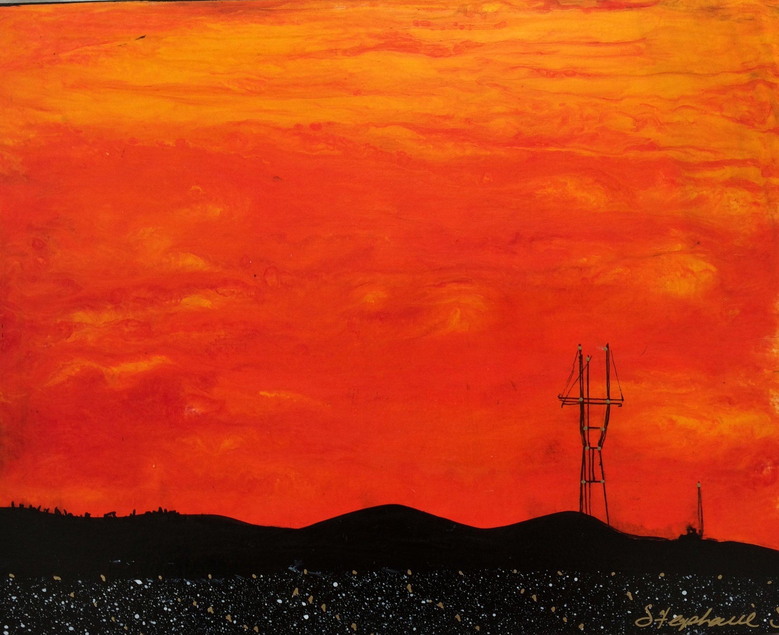 "SUTRO SUNSET #24 (8x10"")"