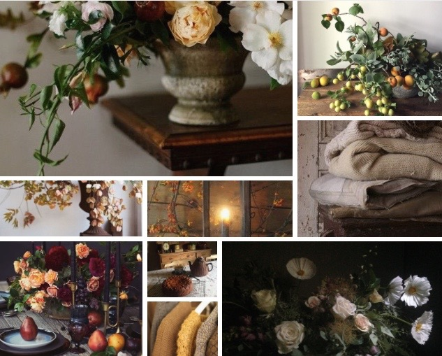 Oregon Home Magazine Autumn Floral Moodboard Dearhouse Collective